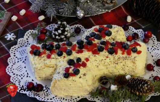 keto orange cranberry youle log cake