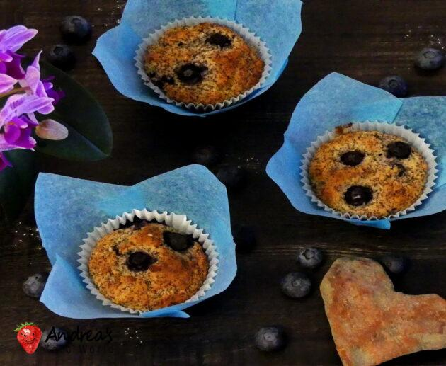 Blueberry Poppy Seed Muffin - Low-carb, Gluten-free