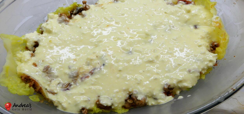 no pasta lasagna with cabbage keto low carb glutenfree