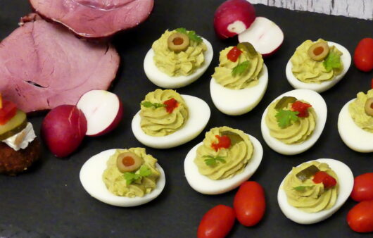 Avocado Tuna Stuffed Eggs
