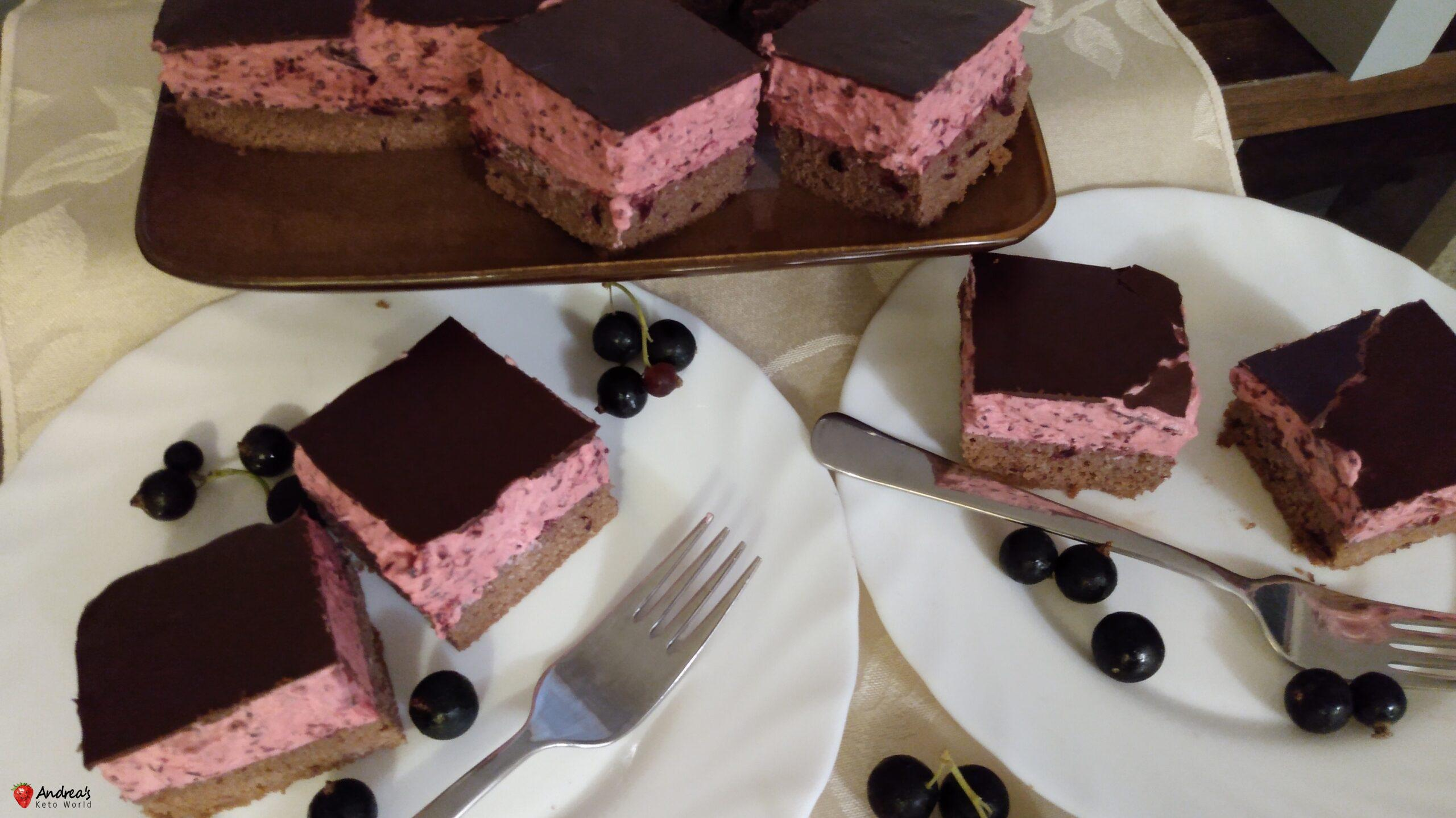 Black Currant Cake - Low-carb, Gluten-free & Very Fruity
