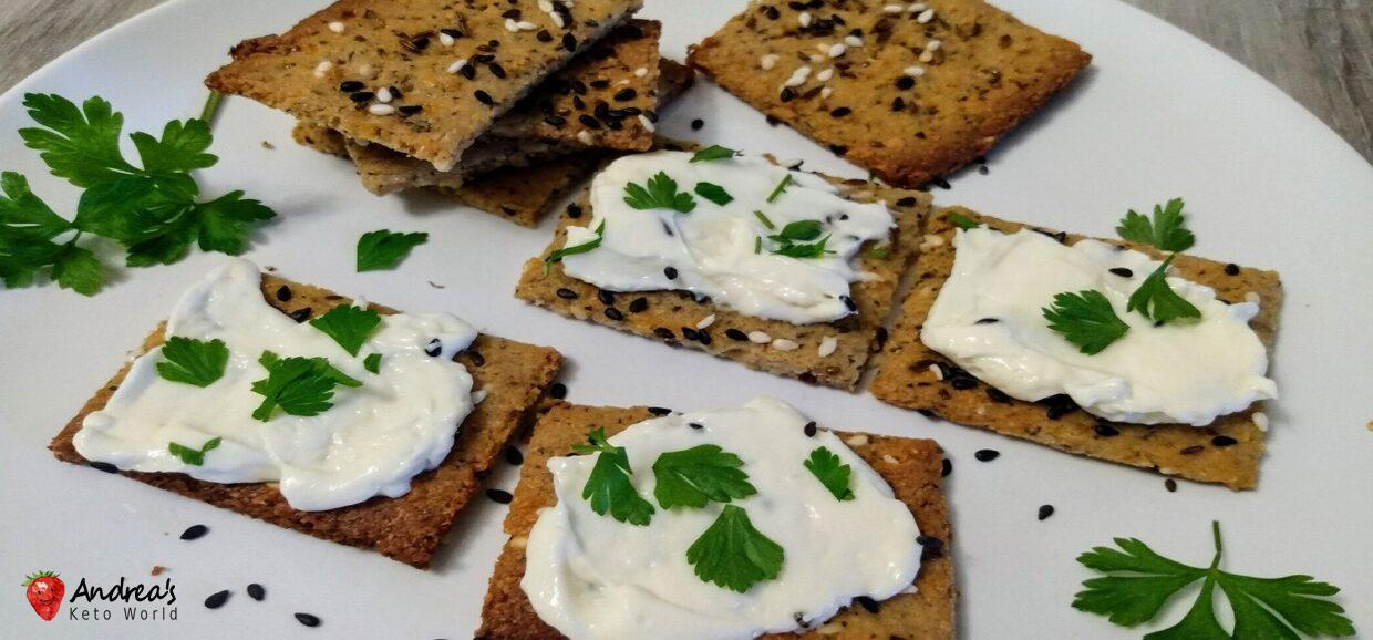 Easy Homemade Low Carb Cheese & Spicy Crackers