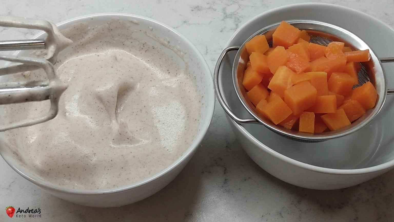 low-carb gluten-free pumpkin cottage cheese pie